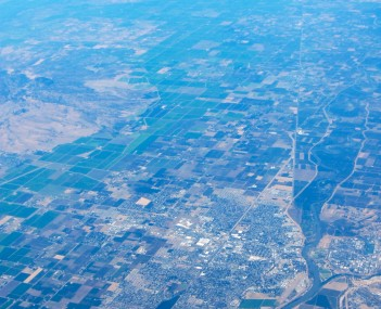 Yuba City, from the air