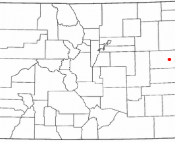 Location of Burlington, Colorado