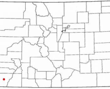 Location of Cortez, Colorado