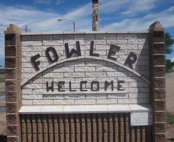 Fowler welcome sign