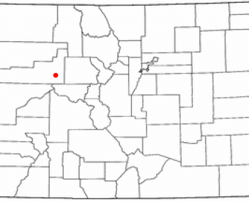 Location of Glenwood Springs in Colorado, USA