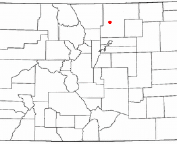 Location of Greeley, Colorado