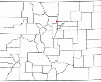Location of Lafayette, Colorado