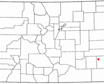 Location of Lamar, Colorado