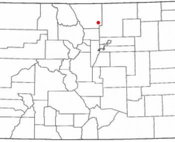 Location of Loveland, Colorado