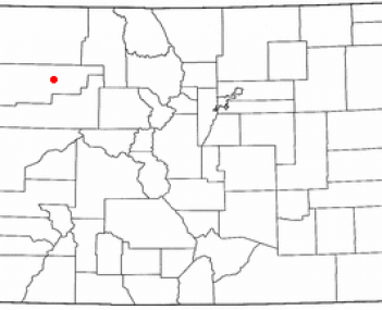 Location of Meeker, Colorado