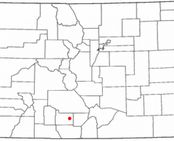 Location of Monte Vista, Colorado
