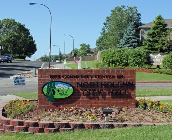 The sign for Northglenn's City Hall.