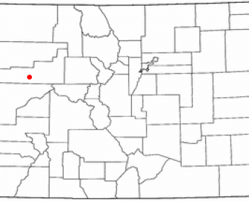 Location of Parachute, Colorado