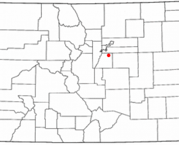 Location of Parker, Colorado
