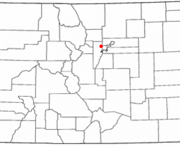 Location of Wheat Ridge, Colorado
