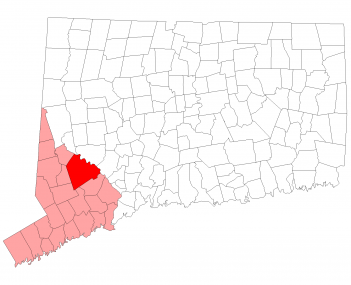 Location in Fairfield County, Connecticut