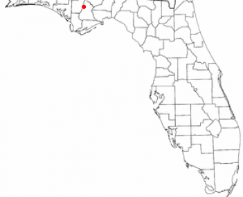 Location of Bristol, Florida