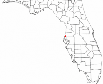 Location of Holiday, Florida