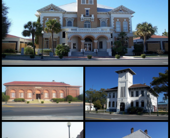 Suwannee County Courthouse, Old Post Office, Old Live Oak City Hall, Downtown Live Oak, ACL Freight Station