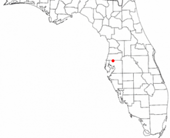 Location of Lutz, Florida