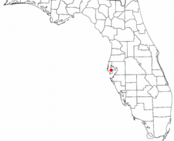 Location of Pinellas Park, Florida