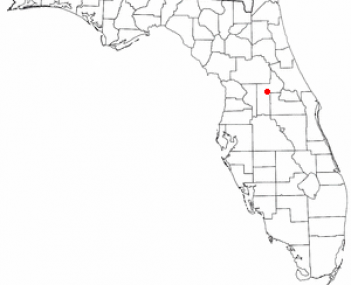 Location of Tavares, Florida