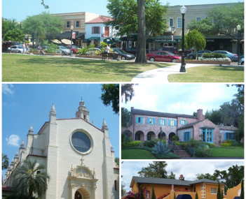 Images from top, left to right: Downtown Winter Park Historic District, Knowles Memorial Chapel, Robert Bruce Barbour House, Albin Polasek House and Studio