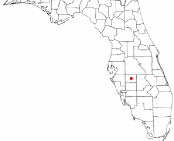 Location of Zolfo Springs, Florida