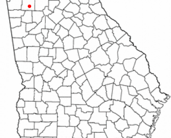 Location of Cartersville, Georgia