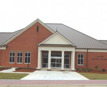 The city hall in Claxton, Georgia, seat of the city's local government