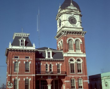 Built in 1884, the historic Newton County Courthouse located in Covington, Georgia