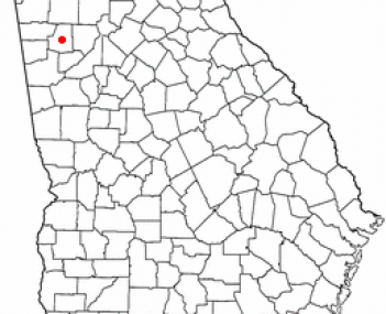Location of Dallas, Georgia