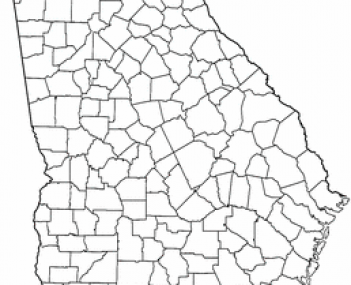 Location of Dawsonville, Georgia