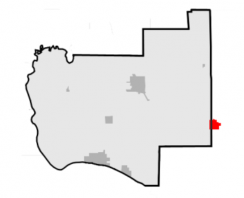 Location of Brighton within Jersey County, Illinois
