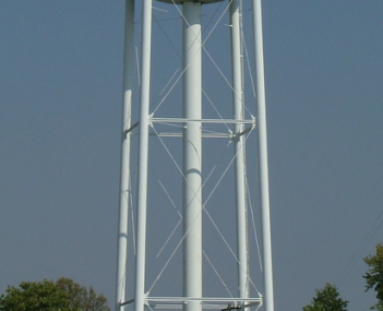 Chrisman Illinois water tower