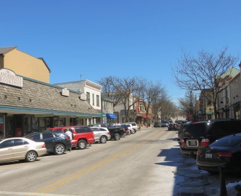 Jefferson Avenue in downtown Naperville.