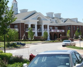 New Lenox Village Hall from Library