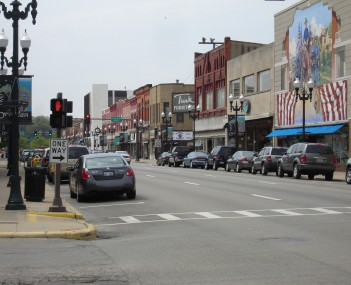Downtown Ottawa, Illinois in May 2008