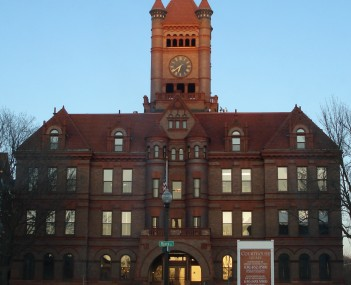 The historic DuPage County Courthouse in downtown Wheaton