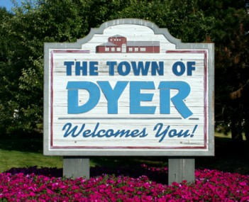 Dyer's location in Lake County