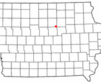 Location of Ackley, Iowa