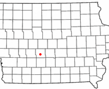 Location of Adel, Iowa