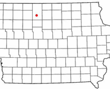 Location of Algona, Iowa