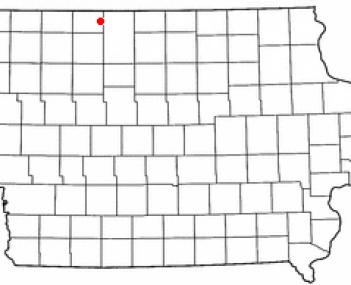 Location of Armstrong, Iowa