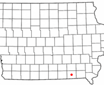 Location of Bloomfield, Iowa