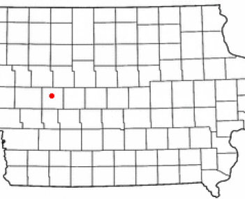 Location of Carroll, Iowa