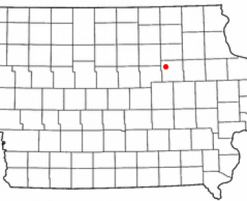 Location of Cedar Falls, Iowa