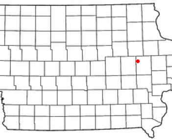 Location of Center Point, Iowa