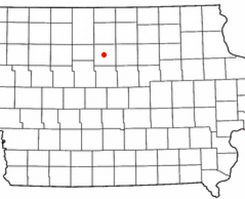 Location of Clarion, Iowa