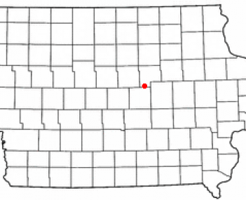 Location of Conrad, Iowa