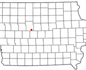 Location of Dayton, Iowa