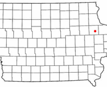 Location of Delhi, Iowa