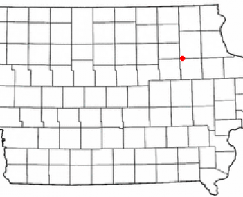 Location of Fairbank, Iowa