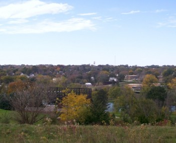 Looking west at Glenwood from Old Slaughterhouse Hill at the Glenwood Lake Park in 2007